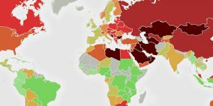 Nuevo mapa revela los países más contaminados del mundo
